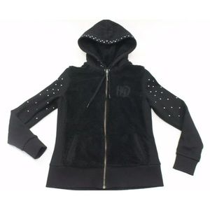 Womens M Harley Davidson Fleece jacket hoodie zip